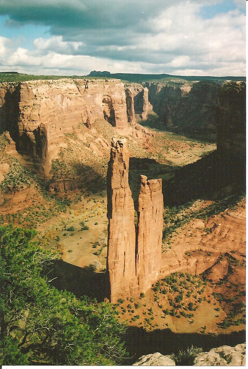 Spider Rock in Canyon De Chelly, Arizona