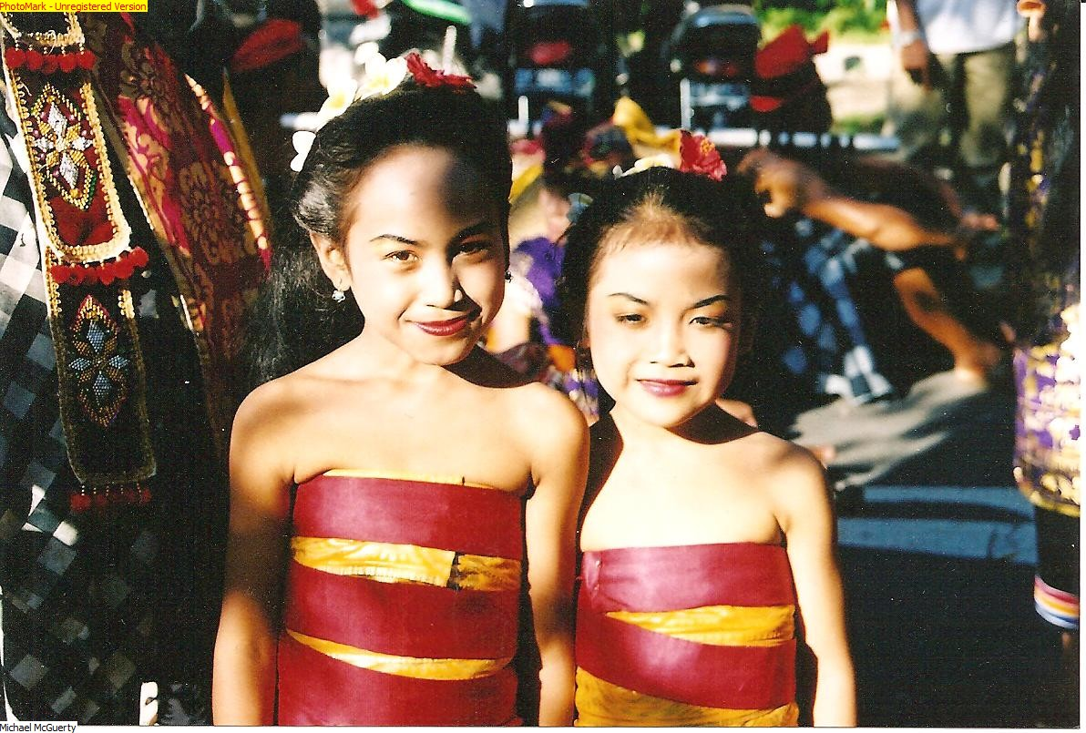 Balinese Girls at festival - Bali