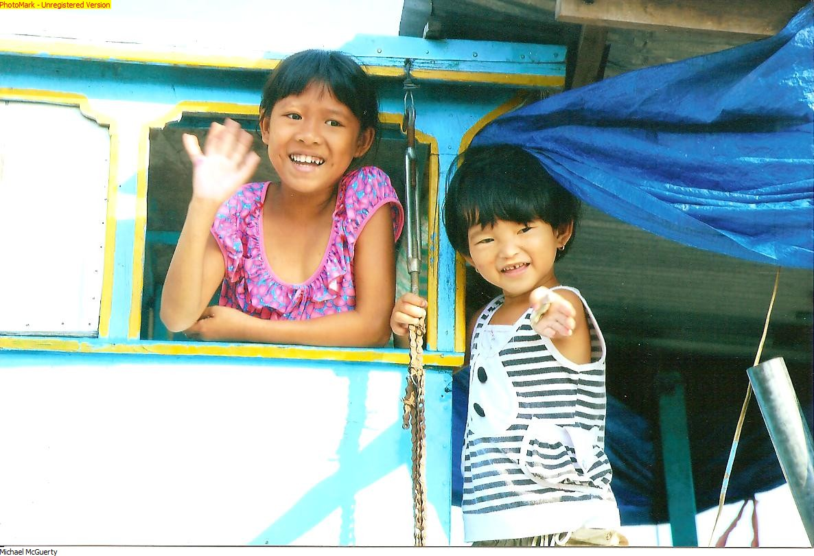 Vietnamese Children on Mekong Delta - Vietnam